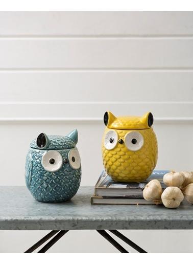 Warm Design Baykuş Kavanoz Sarı